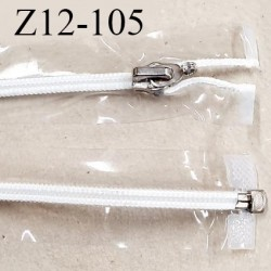 Fermeture zip 12 cm couleur transparente vinyle séparable glissière nylon curseur en métal ouvert spécial prix à l'unité