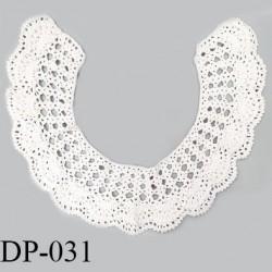 Devant plastron 40 cm col crochet couleur blanc largeur 40 cm hauteur 32 cm prix à l'unité