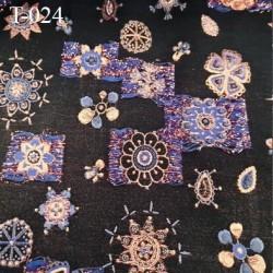 Tissu lycra pour le bain et lingerie très haut de gamme couleur bleu foncé ou anthracite avec des motifs avec des reliefs