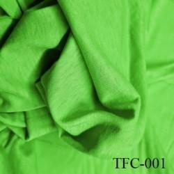 Tissu coton spécial lingerie et fond de culotte vert largeur 150 cm poids mètre carré 106 gr  prix 10 cm de longueur par 150 cm