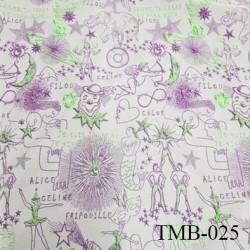 Tissu lycra pour le bain et lingerie très haut de gamme violet et vert avec des motifs avec des reliefs
