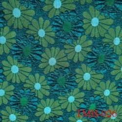 Tissu lycra pour le bain et lingerie très haut de gamme vert avec des motifs fleurs avec des reliefs
