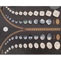 Plaque de 46 boutons pour création unique le plus gros diamètre 41 mm et le plus petit diamètre 9 mm prix pour la plaque entière