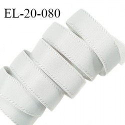 Elastique 19 mm bretelle et lingerie avec surpiqûres couleur gris légèrement bleuté brillant fabriqué en France prix au mètre