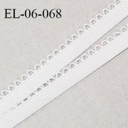 Elastique 6 mm lingerie haut de gamme fabriqué en France élastique souple couleur naturel prix au mètre