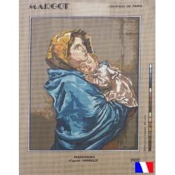 Canevas à broder 50 x 65 cm marque MARGOT création de Paris Madonnina d'après FERRUZZI fabrication française