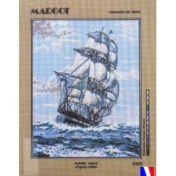 Canevas à broder 50 x 65 cm marque MARGOT création de Paris pleine voile d'après LENO fabrication française