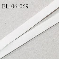 Elastique 6 mm fin spécial lingerie élastique souple style velours couleur ivoire fabriqué en France largeur 6 mm prix au mètre