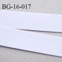 Devant bretelle 16 mm en polyamide attache bretelle rigide pour anneaux couleur blanc haut de gamme prix au mètre
