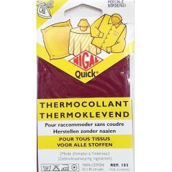 thermocollant nigal 100 % coton percale couleur BORDEAUX dimension 12 X 45 centimètres  prix 2.45 € pour tous tissus