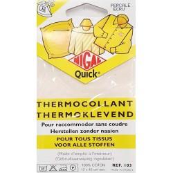 thermocollant nigal 100 % coton percale couleur ECRU dimension 12 X 45 centimètres  prix 2.45 € pour tous tissus