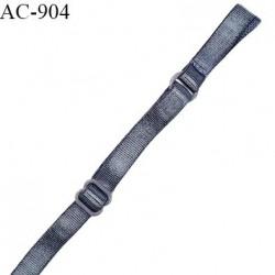Déstockage Bretelle lingerie SG 8 mm couleur gris bleuté brillant prix à l'unité légère démarcation de couleur sur la bretelle