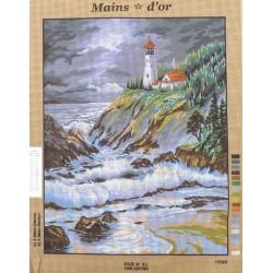 Canevas à broder 50 x 65 cm marque MAIN D'OR Le phare