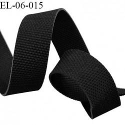 Elastique caoutchouc gomme laminette largeur 8 mm épaisseur 0.6 mm gros grain très très résistantes couleur noir