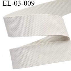 Elastique gomme largeur 3 mm épaisseur 0.8 mm caoutchouc  laminette  gros grain très très résistantes couleur gris blanc