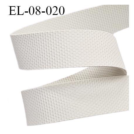 Elastique caoutchouc gomme laminette largeur 8 mm épaisseur 0.8 mm gros grain très très résistantes couleur gris blanc