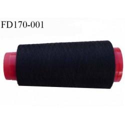 Destockage cône fil polyester fil n° 30 couleur noir  longueur de 800 mètres bobiné en France