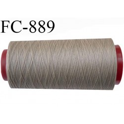 CONE 2000 m fil Polyester fil n°100 Coats épic couleur marron glacé 2000 m bobiné en France