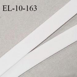 Elastique 10 mm lingerie haut de gamme fabriqué en France couleur écru élastique souple doux au toucher prix au mètre