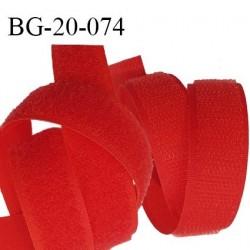 Scratch type velcro 20 mm à coudre couleur rouge prix au mètre pour les 2 faces velours et crochet largeur 20 mm