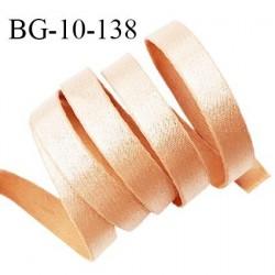 Devant bretelle 10 mm en polyamide attache bretelle rigide pour anneaux couleur chair doré haut de gamme prix au mètre