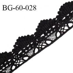 Galon ruban guipure 60 mm couleur noir largeur 60 mm prix au mètre