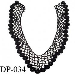 Devant plastron 30 cm col crochet perlé couleur noir largeur 30 cm hauteur 35 cm prix à l'unité