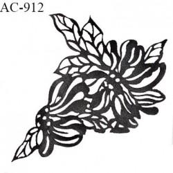 Décor ornement motif imitation cuir largeur 11.5 cm hauteur 12.5 cm prix à l'unité