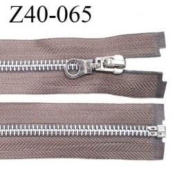 Fermeture zip 40 cm séparable couleur taupe zip glissière métal largeur 7 mm longueur 40 cm prix à l'unité