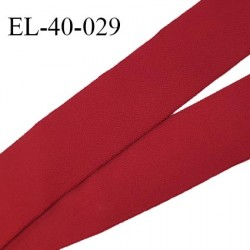 Elastique 40 mm spécial lingerie sport et caleçon couleur bordeaux haut de gamme fabrication française prix au mètre