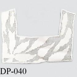 Devant plastron 31 cm col crochet coton couleur blanc largeur 31 cm hauteur 21 cm prix à l'unité