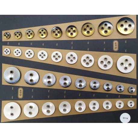 Plaque de 36 boutons pour création unique le plus gros diamètre 40 mm le plus petit diamètre 15 mm prix pour la plaque entière