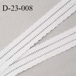 Dentelle anglaise 23 mm coton couleur blanc avec pois brodés prix au mètre