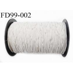 Destockage Grosse bobine de 400 m de fil élastique smock fronceur gomme couleur blanc longueur 400 mètres diamètre 1 mm