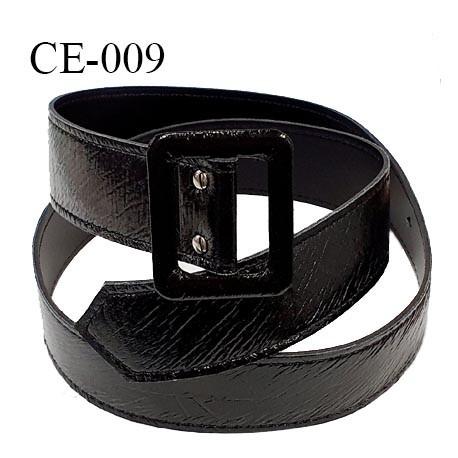 Ceinture 105 cm style vinyle couleur noir longueur 105 cm largeur 4 cm épaisseur 2.5 mm prix à l'unité