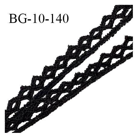 Galon dentelle 10 mm couleur noir largeur 10 mm prix au mètre