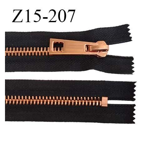 Fermeture 15 cm couleur noir non séparable zip glissière en métal métal couleur cuivre prix à l'unité