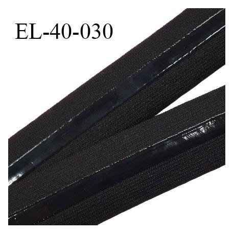 Elastique anti-glisse 40 mm haut de gamme couleur noir largeur 40 mm fabriqué en France prix au mètre
