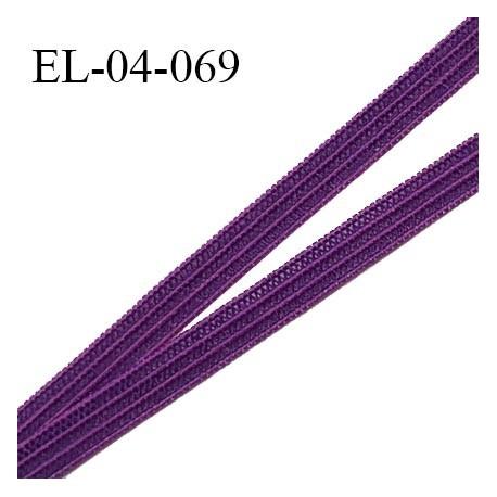 Elastique 4 mm spécial lingerie et couture couleur violet grande marque fabriqué en France élastique très souple prix au mètre