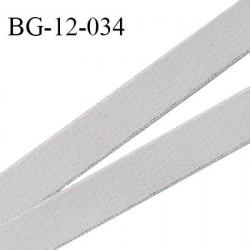Devant bretelle 12 mm en polyamide attache bretelle rigide pour anneaux couleur gris galet haut de gamme prix au mètre