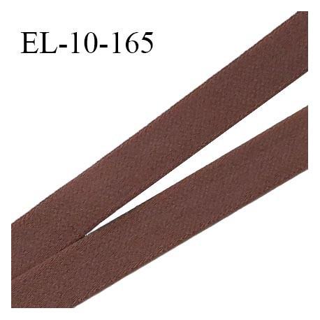 Elastique lingerie 10 mm haut de gamme couleur chocolat largeur 10 mm fabriqué en France prix au mètre