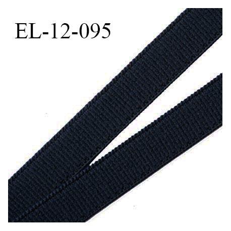 Elastique lingerie 12 mm petit grain haut de gamme couleur noir grande marque fabriqué en France largeur 12 mm prix au mètre