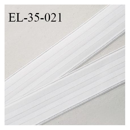 Elastique polygomme 35 mm couleur naturel haut de gamme smock séchage rapide largeur 35 mm prix au mètre