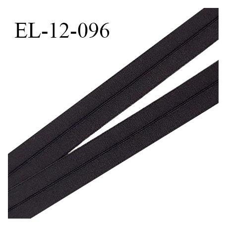 Elastique lingerie 12 mm pré plié haut de gamme couleur noir largeur 12 mm prix au mètre