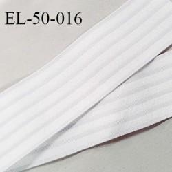 Elastique polygomme 50 mm couleur naturel haut de gamme smock séchage rapide largeur 50 mm prix au mètre