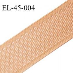 Elastique 42 mm haut de gamme élastique ajouré très souple fabriqué en France couleur chair largeur 42 mm prix au mètre