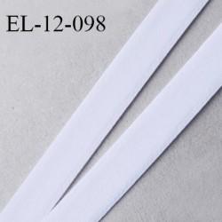 Elastique 12 mm lingerie et bretelle haut de gamme fabriqué en France couleur blanc doux au toucher largeur 12 mm prix au mètre