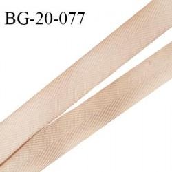 Ruban sangle 20 mm sergé synthétique couleur beige largeur 20 mm prix au mètre