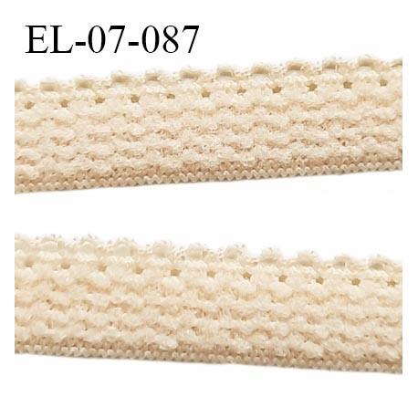 Elastique lingerie 7 mm + 2 mm picots couleur chair clair grande marque fabriqué en France largeur 7 mm + 2 prix au mètre