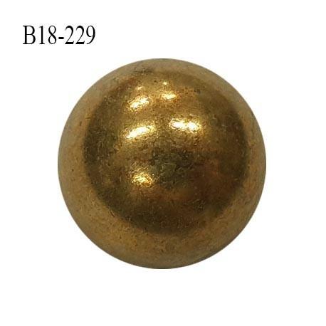 Bouton 18 mm style ancien en métal couleur laiton vieilli accroche avec un anneau diamètre 18 mm prix à l'unité